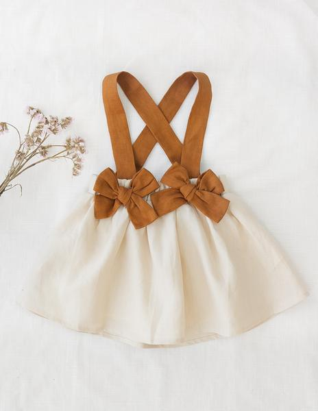 Coco Linen Suspender Skirt - Autumn Edition