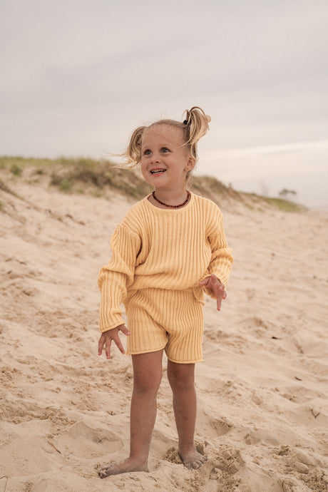 Essential Knit Shorts-Sunshine