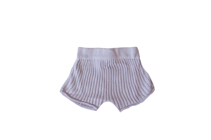 Essential Knit Shorts-Lilac
