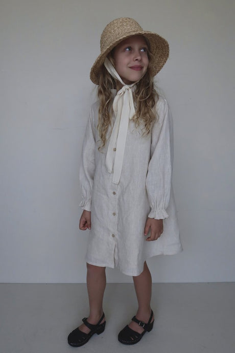 Fanette Dress-Natural Linen