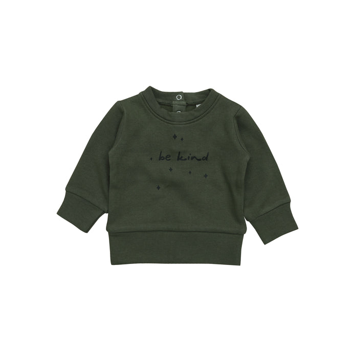 Sweatshirt/Be Kind- Fir