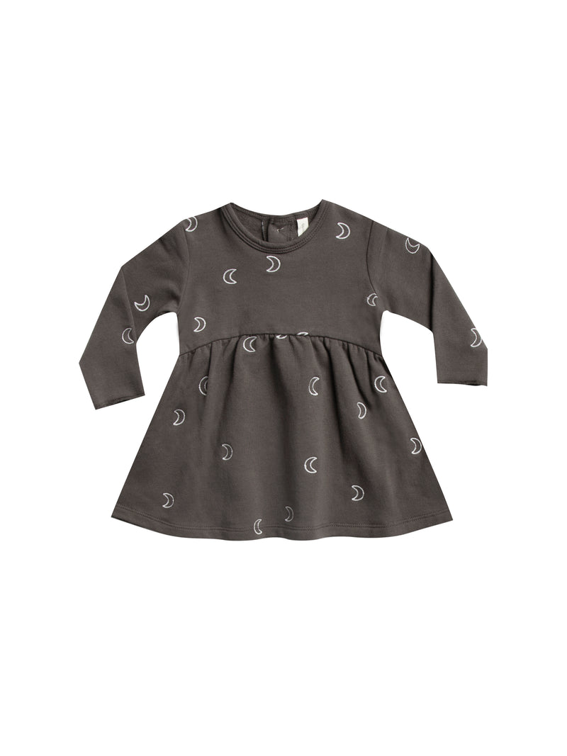 Fleece Dress-Coal