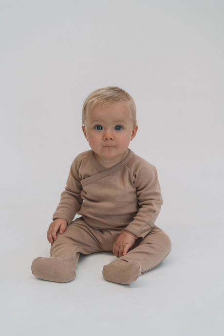Footed Romper- Hazelnut