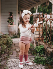 Load image into Gallery viewer, Georgia Ribbed Ruffle Bloomers - Blush