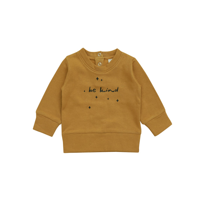 Sweatshirt/Be Kind- Gold