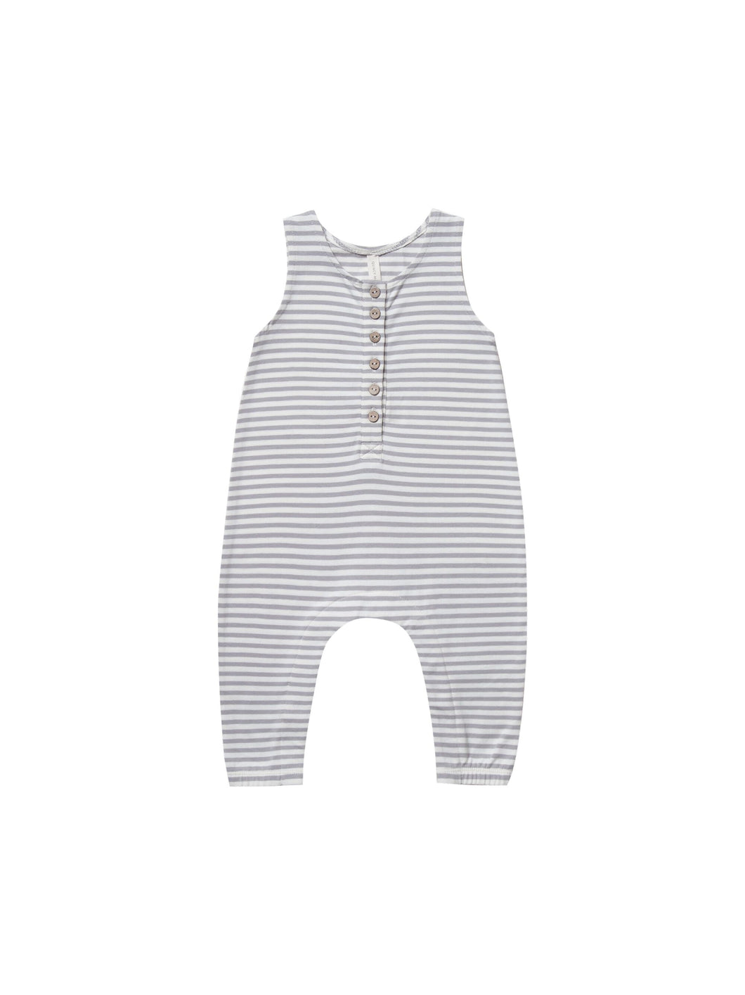 Sleeveless Jumpsuit-Grey Stripe