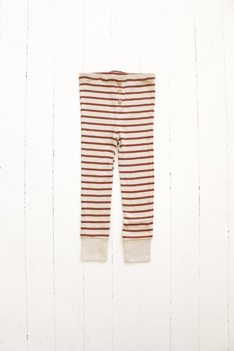 Button Pant-Striped Spice
