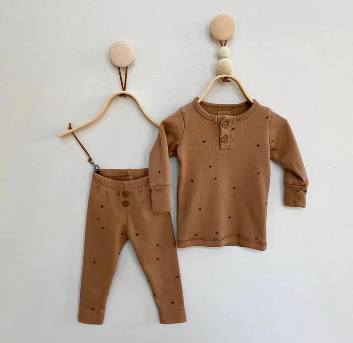 Organic Vintage Lounge Set- Rust/Star