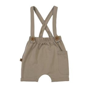 Suspender Shorts-Dune