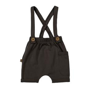 Suspender Shorts-Slate