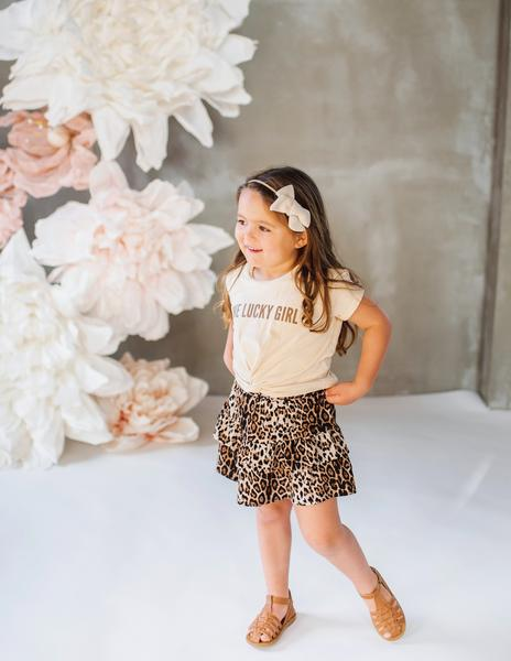 Wild and Free Ruffled Leopard Skirt