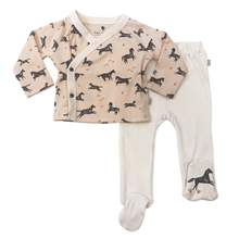 Load image into Gallery viewer, Kimono & Footed Pant Set-Wild Horses