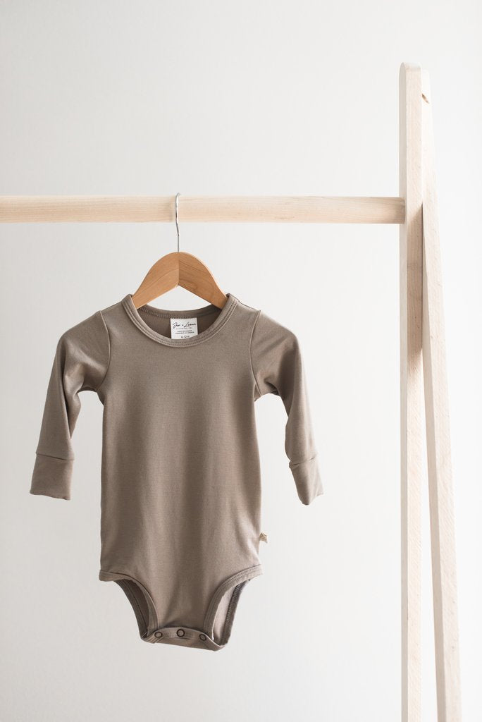 Long Sleeve Onesie - Taupe