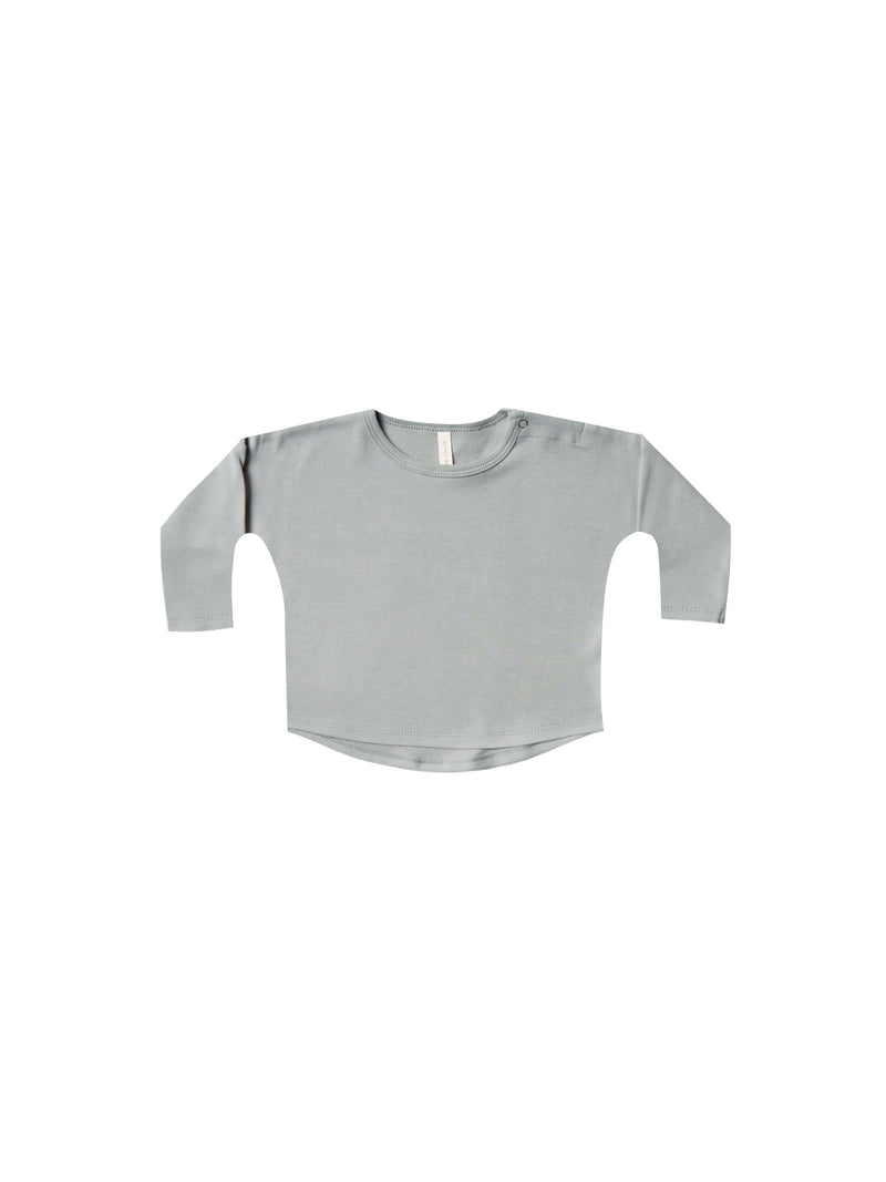 Longsleeve Baby Tee-Dusty Blue