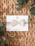 Lulu Linen Bow Headband - Natural