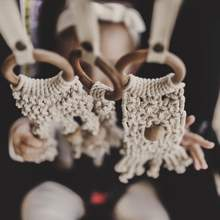Load image into Gallery viewer, Macrame Toy-Mesh and Bead/Natural