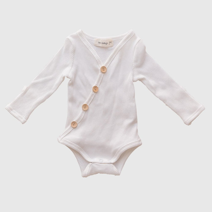 Long Sleeve Bodysuit-Milk