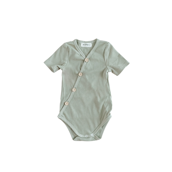 Short Sleeve Bodysuit-Olive