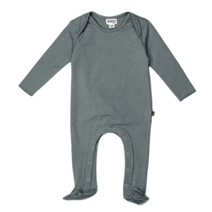 Organic Footed Jumpsuit-Petrol