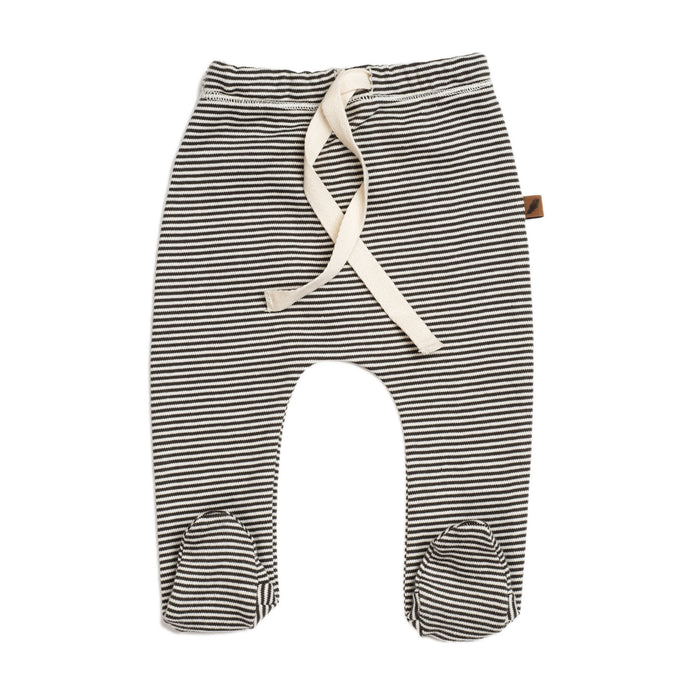 Footed Pants-Stripe