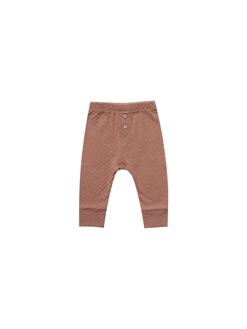 Pointelle Pajama Pant-Clay
