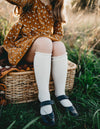 Picnic Knee-High Socks - Macaroon