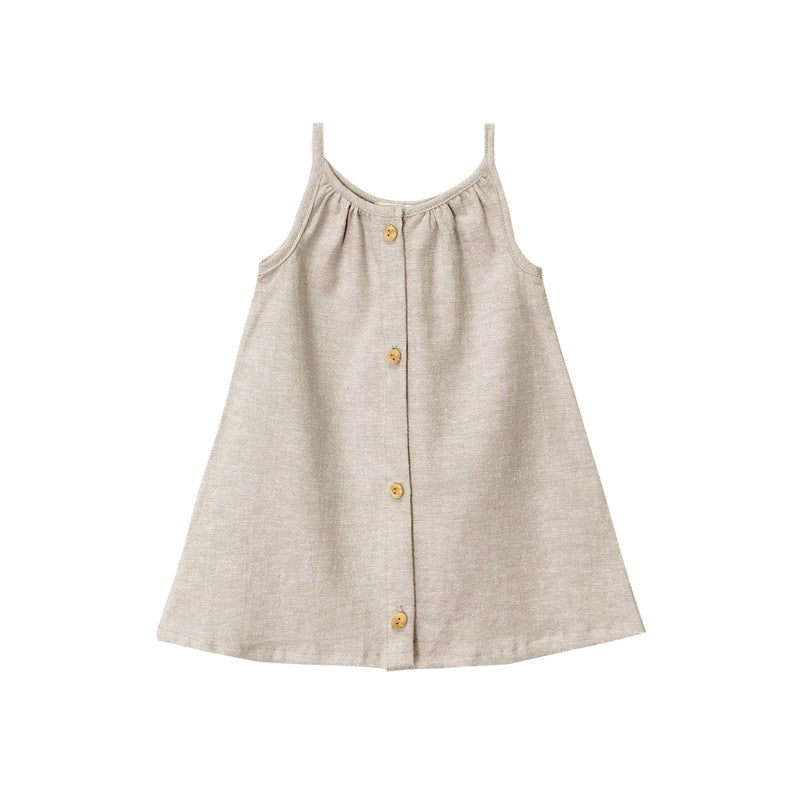 Placket Sundress-Wheat
