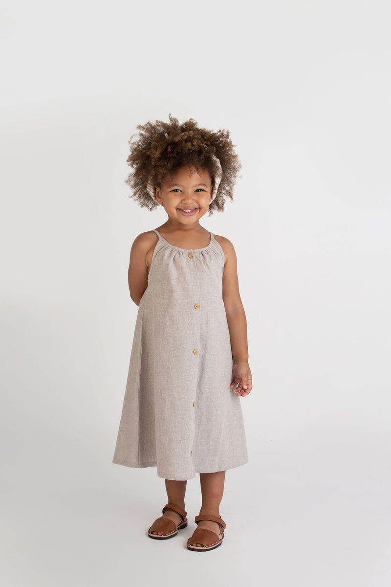 Placket Sundress-Hazelnut