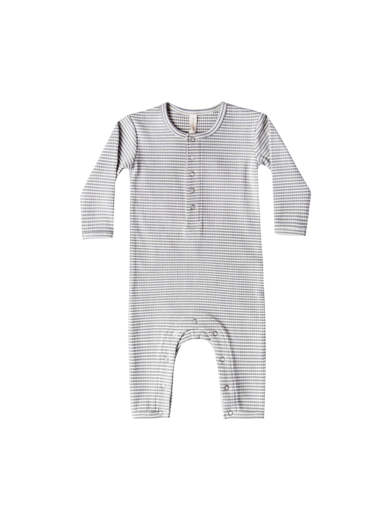 Ribbed Baby Jumpsuit, eucalyptus stripe