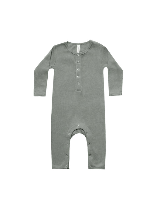 Ribbed Baby Jumpsuit-Eucalyptus