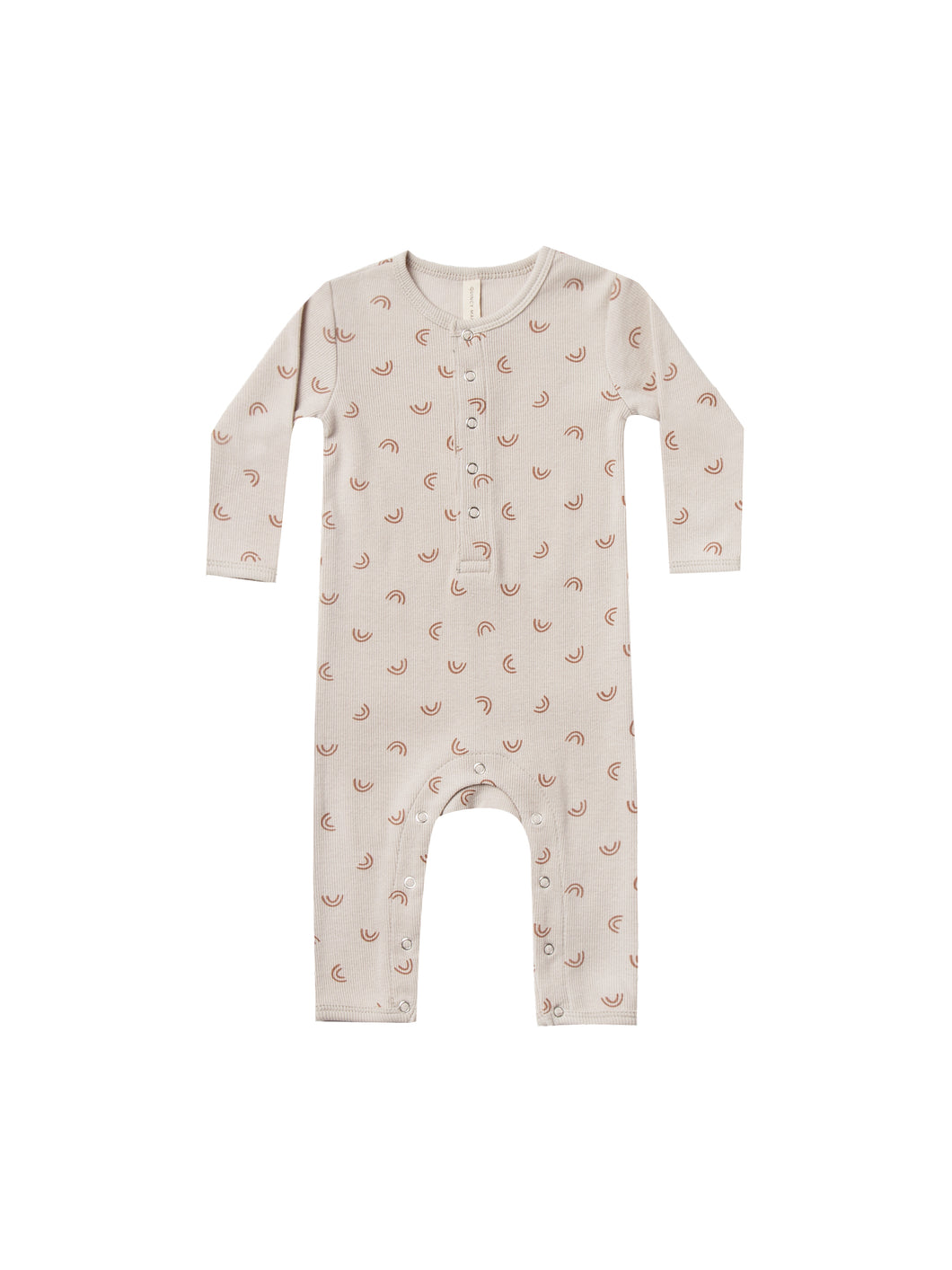 Ribbed Baby Jumpsuit-Stone