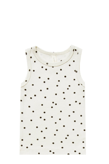 Ribbed Tank-Pebble Dot