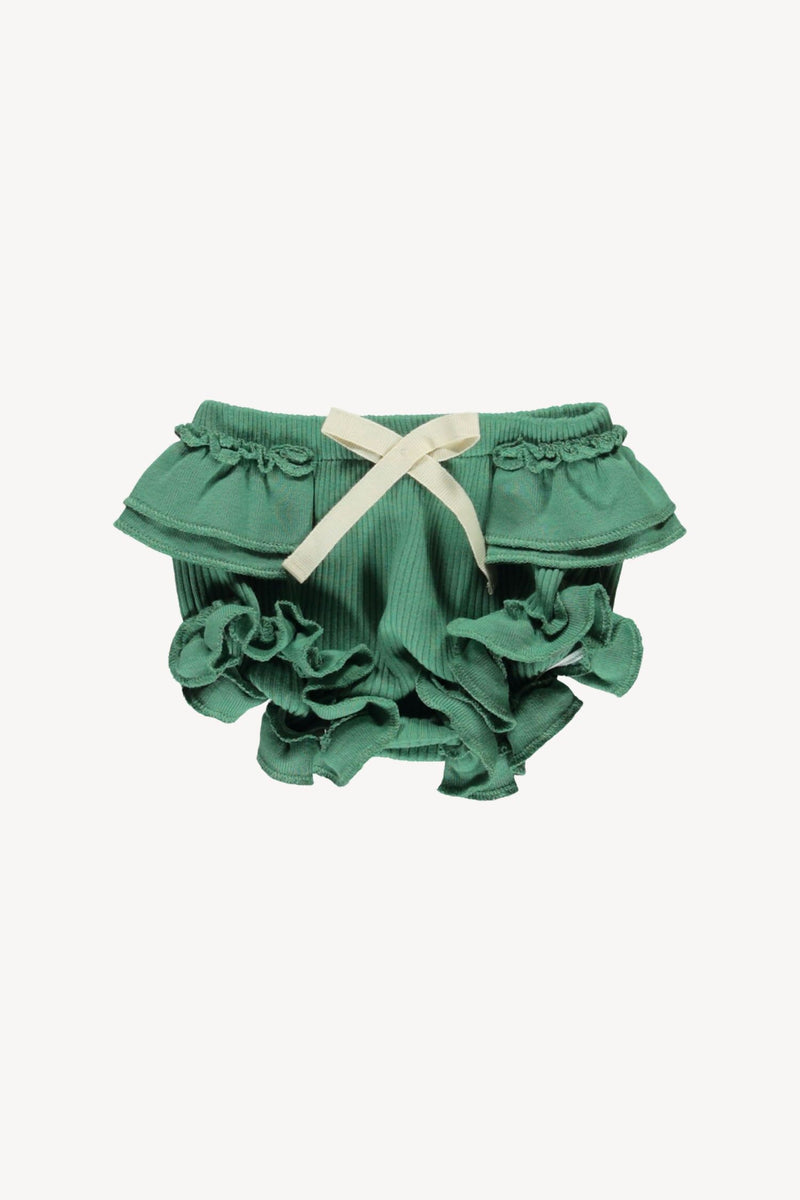 Ruffle Bloomer-Schoolhouse Green
