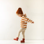 Long-sleeve Tee-Russet Stripes