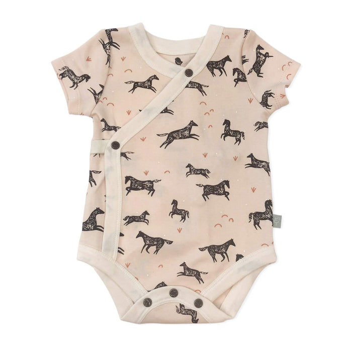 Short Sleeve Bodysuit-Wild Horses