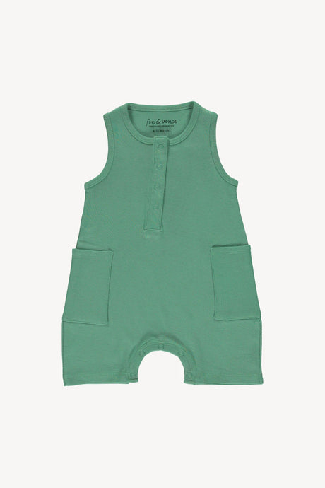 Short Jumpsuit-Schoolhouse Green
