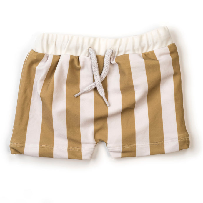 Swim Trunks-Yellow Stripe