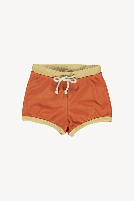 Swim Trunks-Terracotta/Mustard