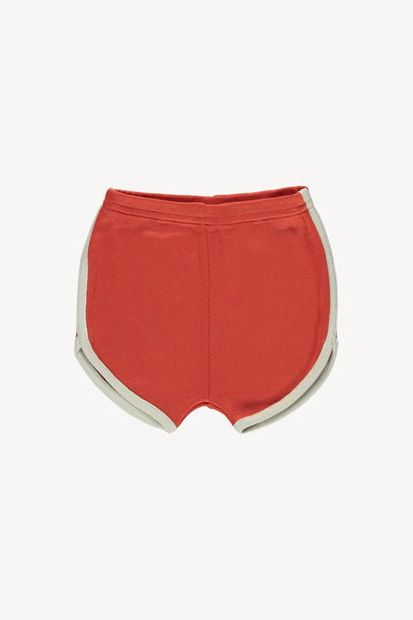 Track Shorts-Brick Red