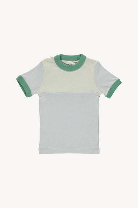 Vintage Tee-Cloud/Oatmeal/Green