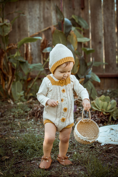 Sunflower Knit Bodysuit