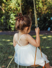 Load image into Gallery viewer, Willa Linen Reversible Tutu Dress - Magic White