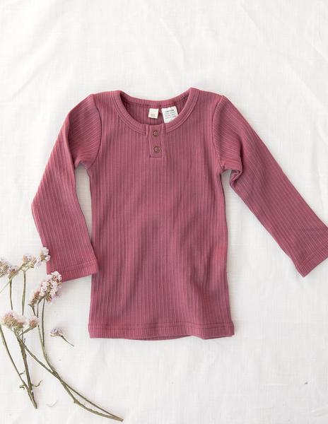 Willow Long Sleeve Top- Garden Rose