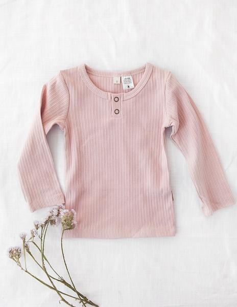 Willow Long Sleeve Top- Soft Pink