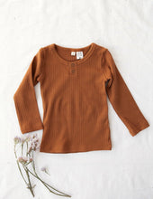 Load image into Gallery viewer, Willow Long Sleeve Cotton Top - Acorn