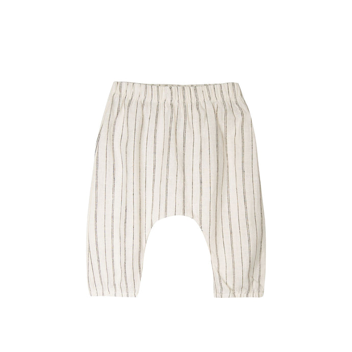 Woven Baby Pant-Natural/Black Stripe