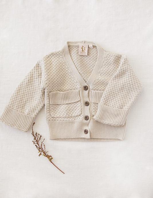Cotton Knit Cardigan - Natural