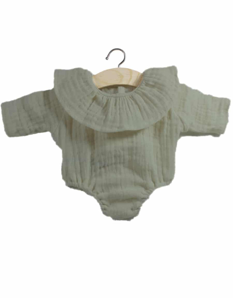 Doll Double Gauze Top-Olive
