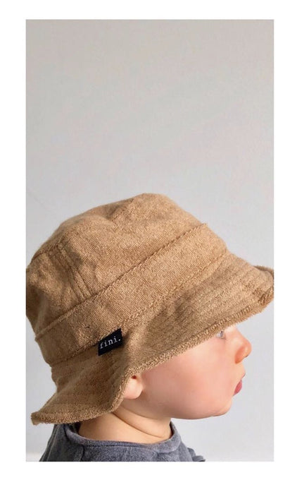 Fini. Terry Bucket Hat-Tan
