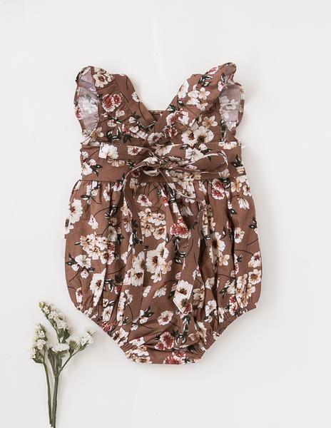 Karolina Ruffle Cotton Playsuit - Flower Bomb